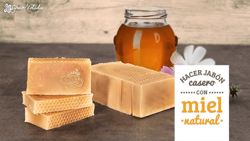Jabon casero de miel y avena