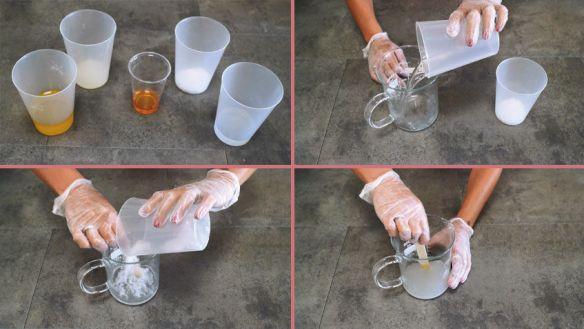 Primeros pasos para hacer Jabón líquido casero.