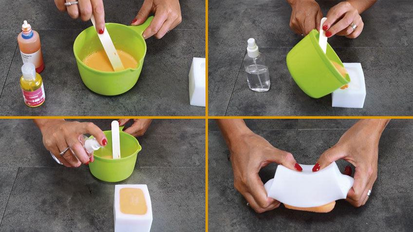 Mezclamos los ingredientes y vertemos en el molde.