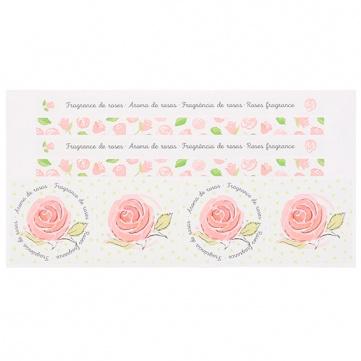 Pegatinas aromáticas de rosas