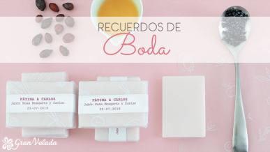 Hacer recuerdos de boda caseros personalizados de jabón con vídeo