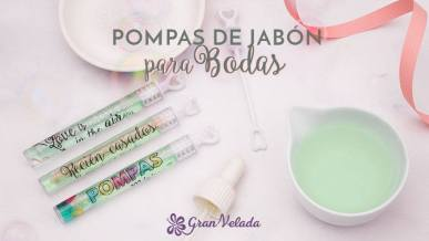 Tutorial de como hacer pompas de jabon para bodas con pegatinas personalizadas en casa