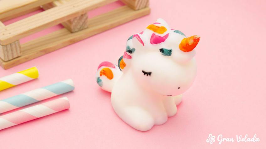 Jabón de glicerina con forma de Unicornio de Gran Velada.