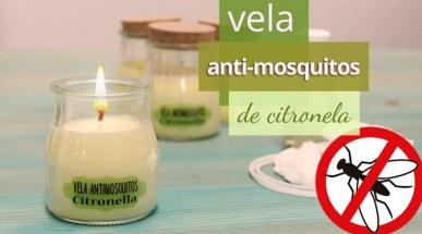 Vela de citronela antimosquitos