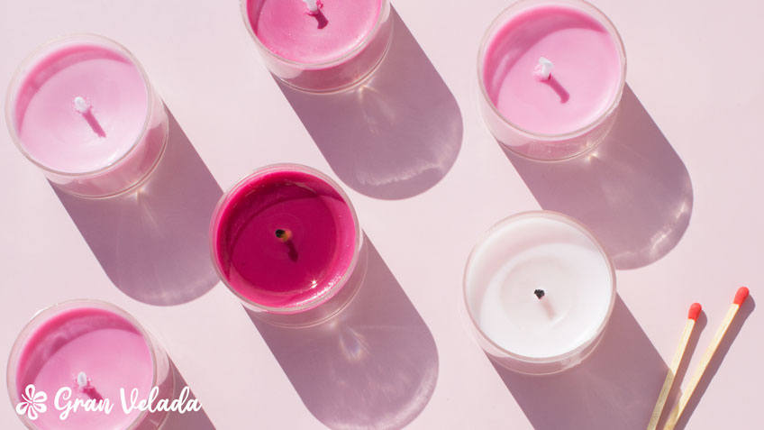 El significado del color de las velas rosas