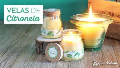 Tutorial para hacer velas de citronella con vídeo