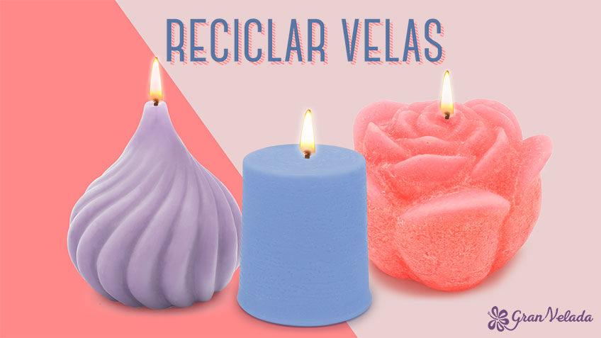 Reciclar velas usadas en casa