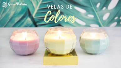 Aprende como hacer Velas de colores con tu aroma preferido con vídeo y paso a paso