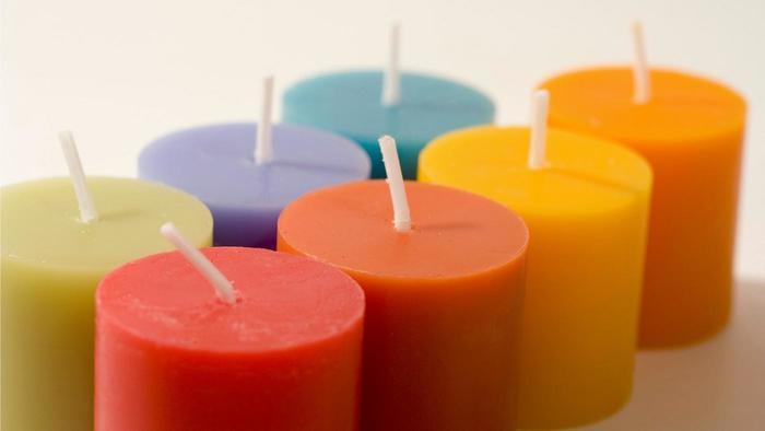 cmo hacer velas de colores