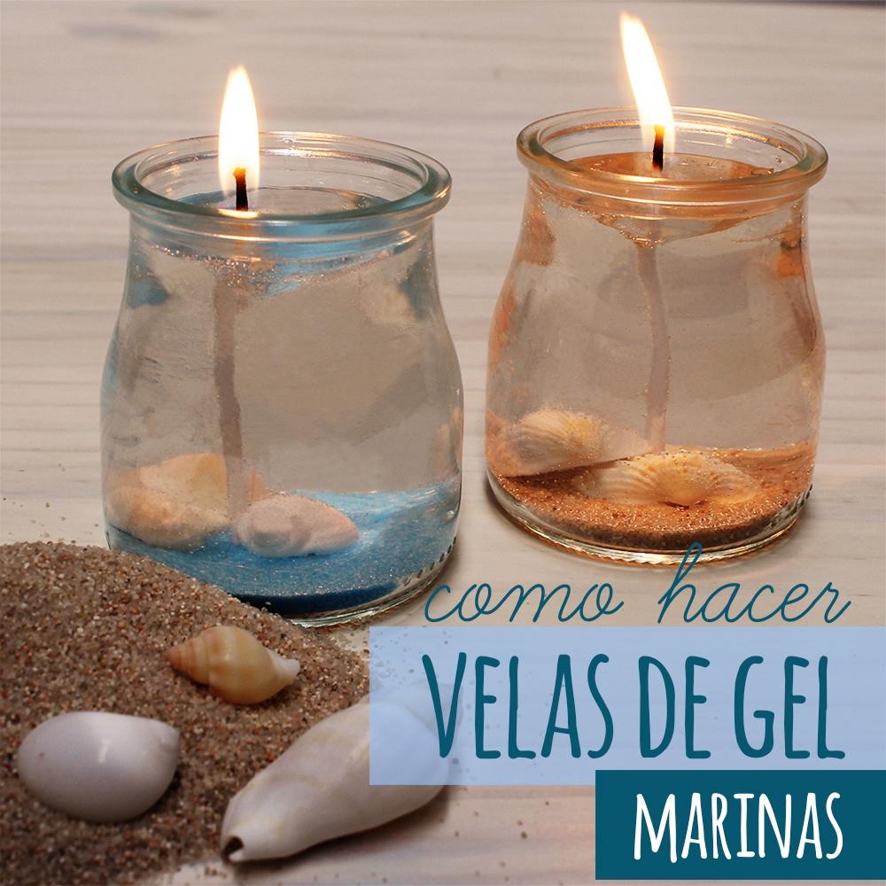 Velas de gel decoradas con estilo marinero en casa for Como hacer velas aromaticas en casa