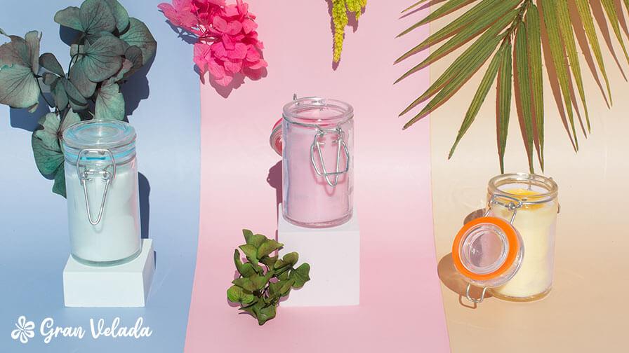 Velas aromaticas en vaso