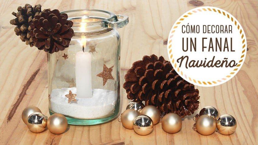 Paso a paso sobre como decorar una vela navideña