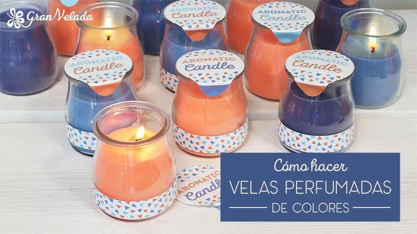 Velas perfumadas de colores de colores