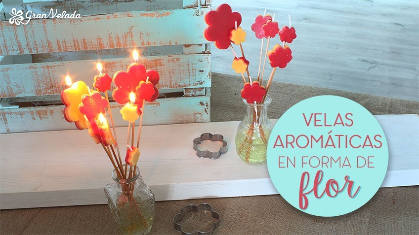 Tutorial para hacer velas de flor aromáticas en casa para decorar y perfumar