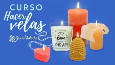Imagen de la portada del curso para aprender a hacer velas caseras.