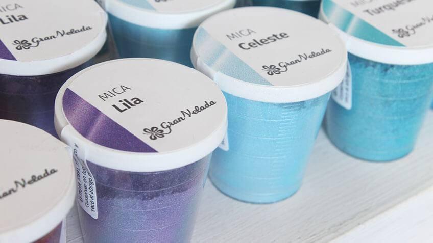 Foto de Micas de Colores en tonos azulados de Gran Velada.