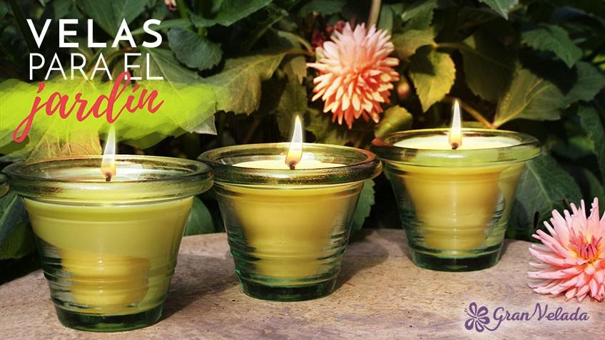 Tutorial para hacer velas de jardin decorativas en casa con aroma a citronela