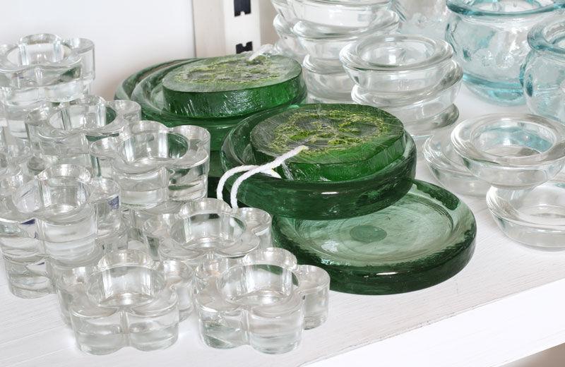 Soportes para velas de cristal