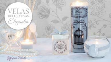 Tutorial con vídeo para hacer velas decorativas elegantes en casa