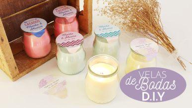 Tutorial para hacer velas bodas diy en casa