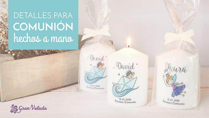 Tutorial para hacer detalles para comunion hechos a mano en casa con velas personalizadas.