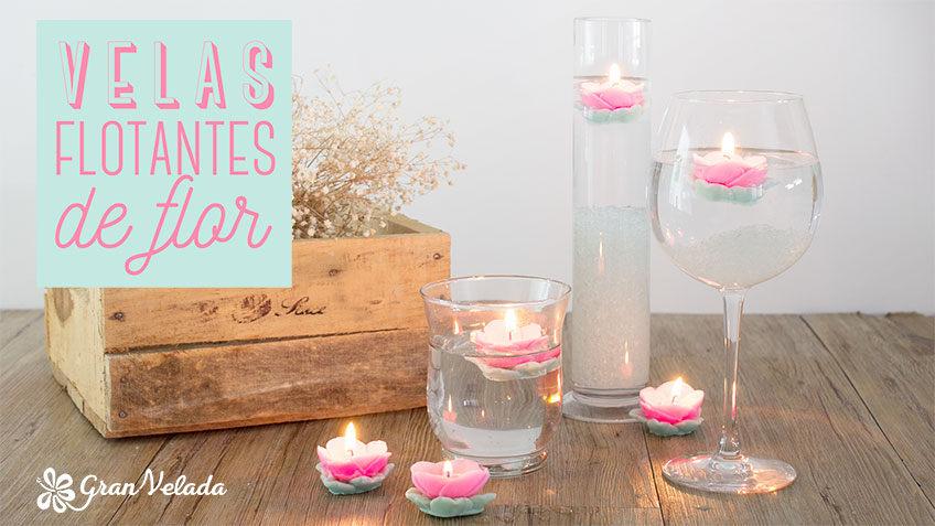 Tutorial para hacer Velas flotantes de flores decorativas,aromaticas y originales con vídeo