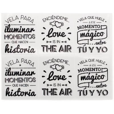 Pegatinas con frases romanticas