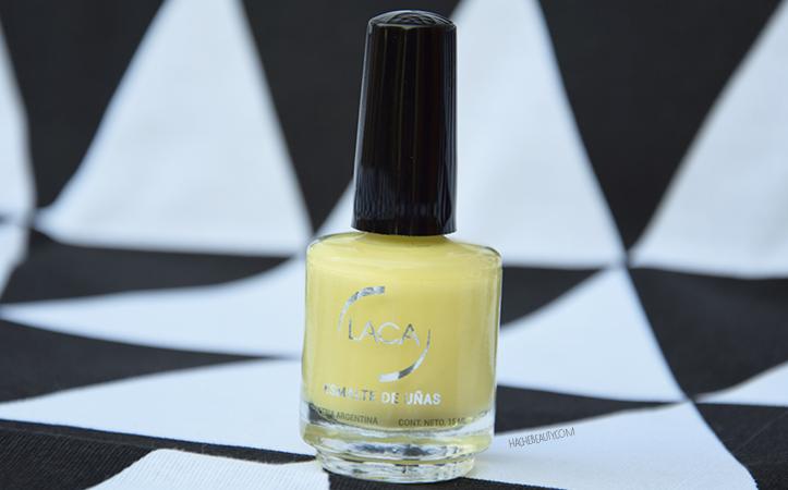 esmaltes laca amarillo