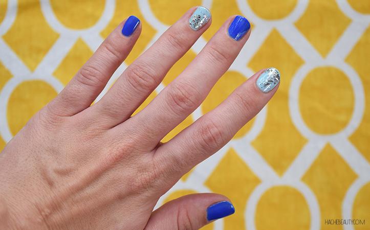 nail art azul glitter 4