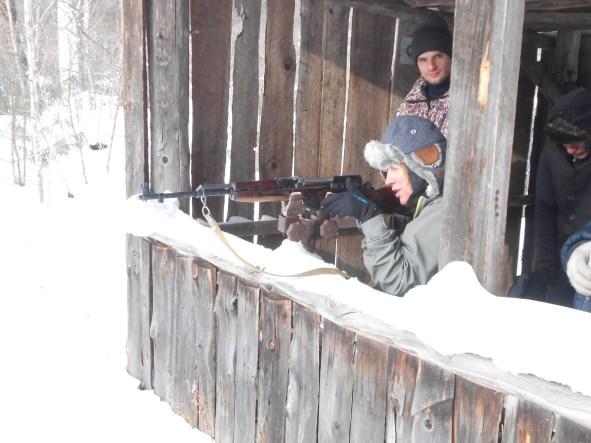 Firing a WW2 rifle