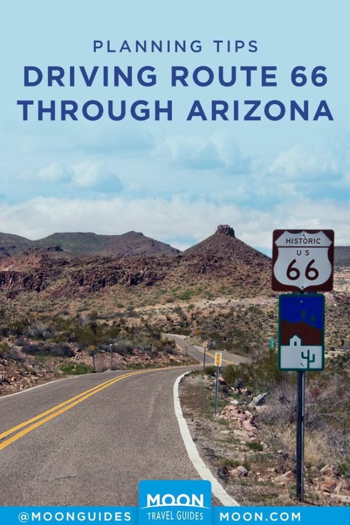 route 66 arizona pinterest graphic