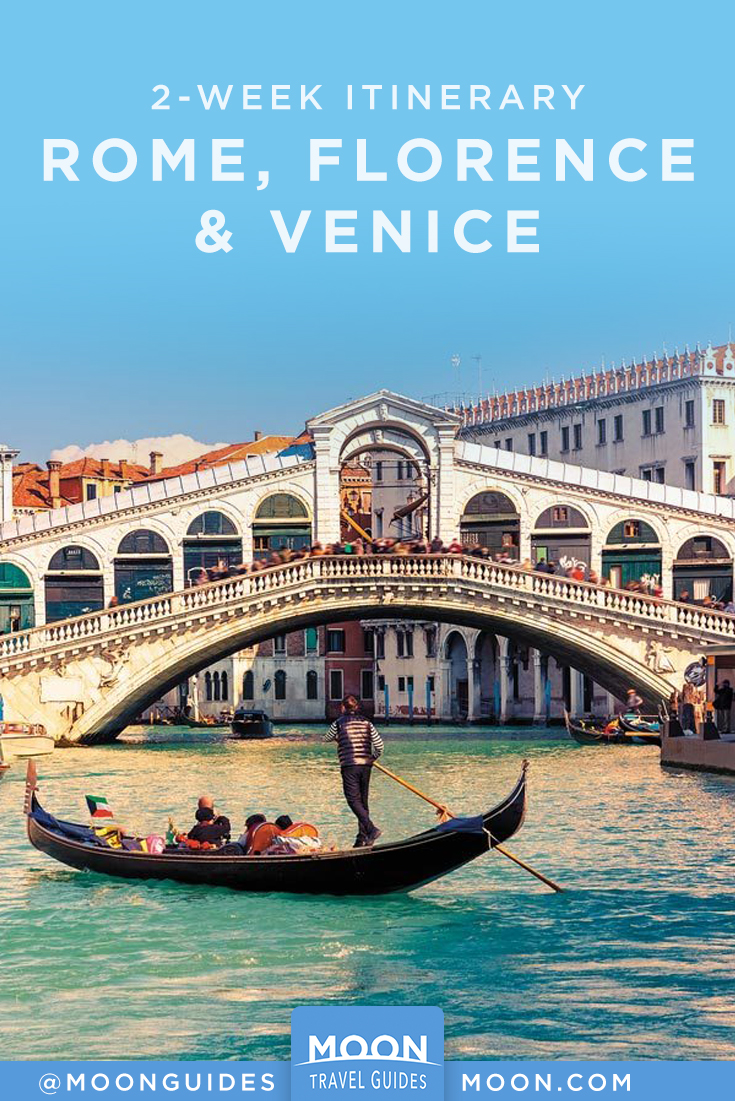 2-week Rome, Florence, Venice pinterest graphic