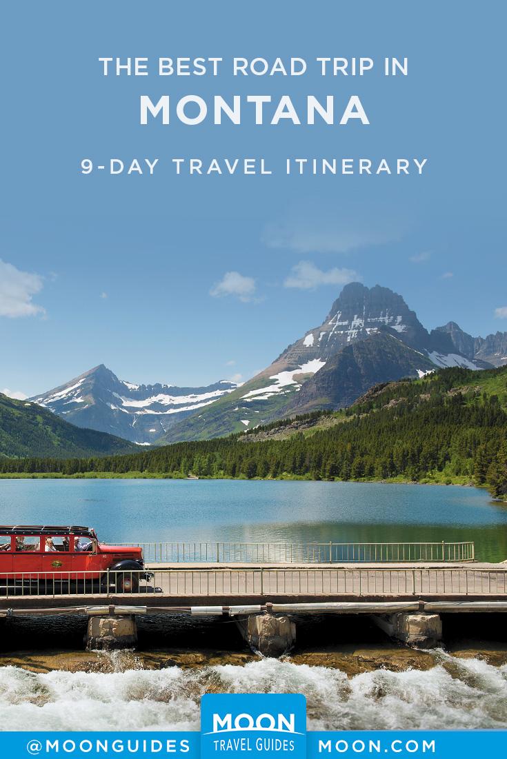 montana road trip pinterest graphic