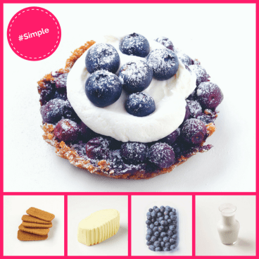 Simple Dessert Blueberry Tart