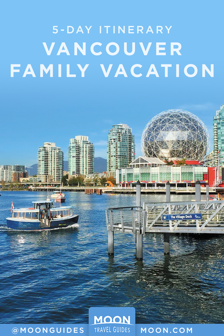 Vancouver with kids pinterest graphic