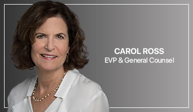 Carol Ross - EVP & General Counsel