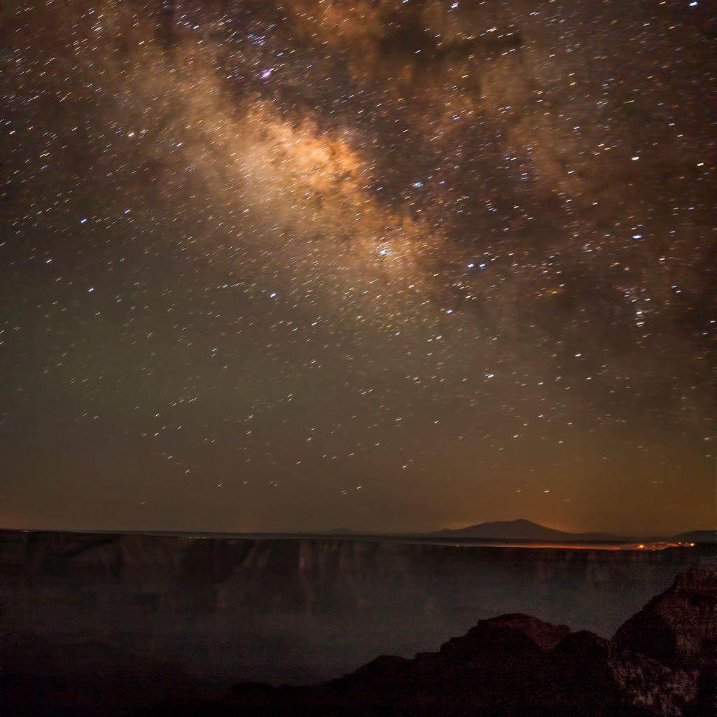 night sky above the Grand Canyon.