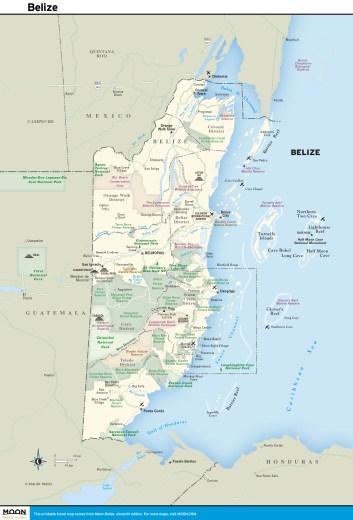 Color map of Belize