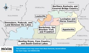 Overview of Kentucky travel maps by region.