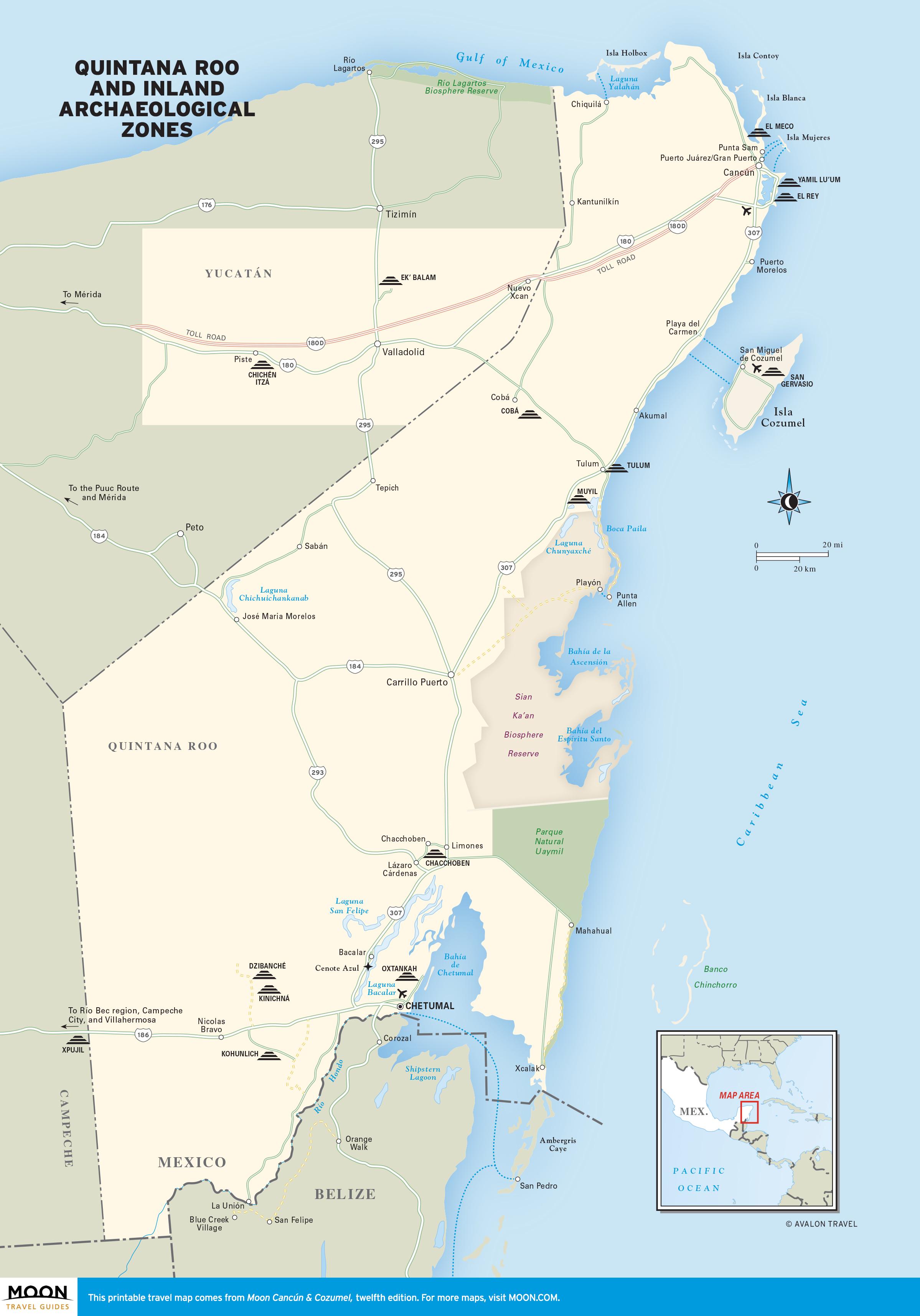 Yucatan Ruins Map : yucatan, ruins, Yucatán, Peninsula, Travel, Guides