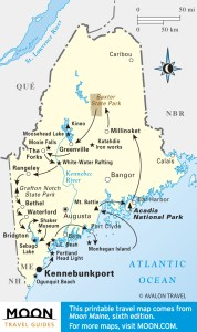 Best of Maine Travel Map