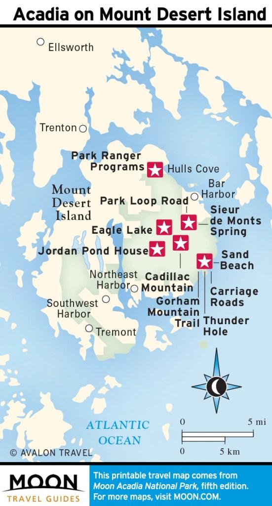 Highlights in Acadia on Mount Desert Island