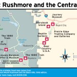 Travel map of Mount Rushmore and the Central Hills Highlights