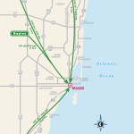 Travel map of Driving Distances to Miami, Florida