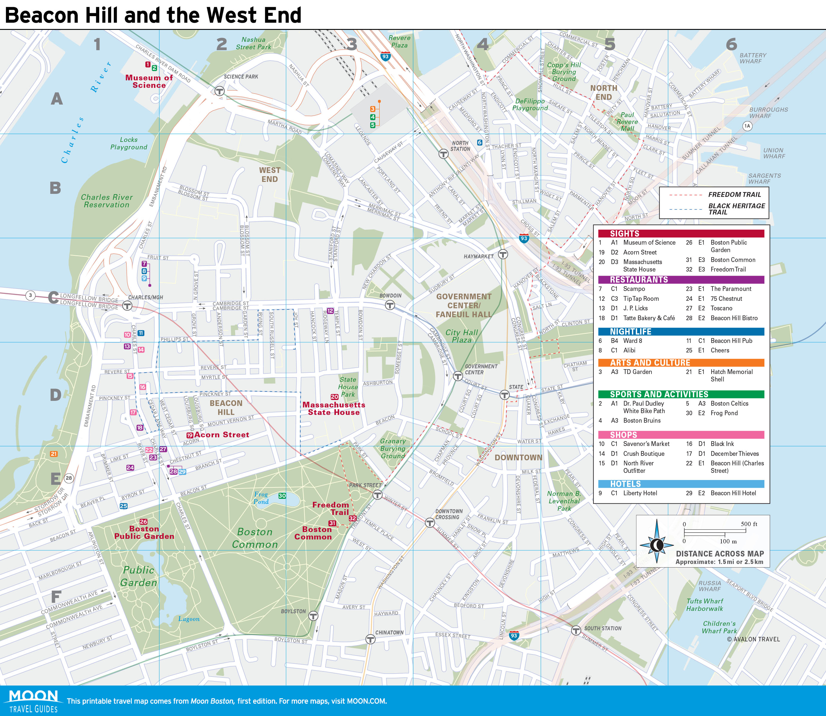 Freedom Trail Boston Map Walk the Freedom Trail on a Self Guided Tour | Moon Travel Guides
