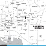 Map of Downtown Honolulu, Hawaii