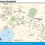 Travel map of Downtown Reykjavík
