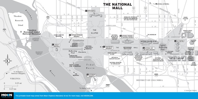 Map of The National Mall in Washington DC