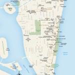 Travel map of South Beach, Miami Florida