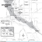 Map of Sturgeon Bay, Wisconsin